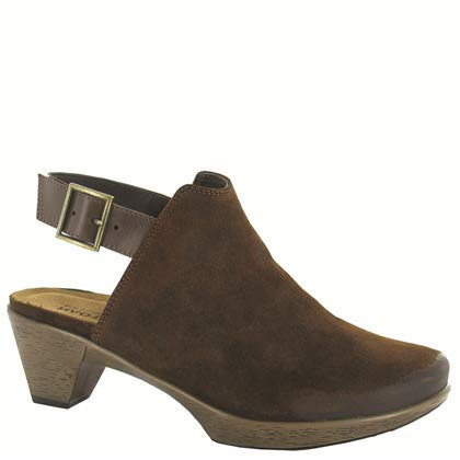 - NAOT Footwear's Women's Upgrade Seal Brown Suede/Pecan Brown Clog 5 M US