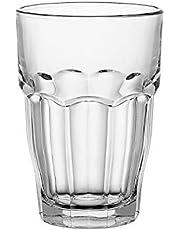 Bormioli Rocco 12-1/2-Ounce Rock Bar Stackable Beverage/Cooler Glasses, Set of 6
