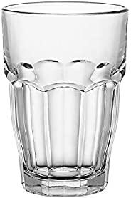 Bormioli Rocco Rock Bar Stackable Beverage Glasses – Set Of 6 Dishwasher Safe Drinking Glasses For Soda, Juice