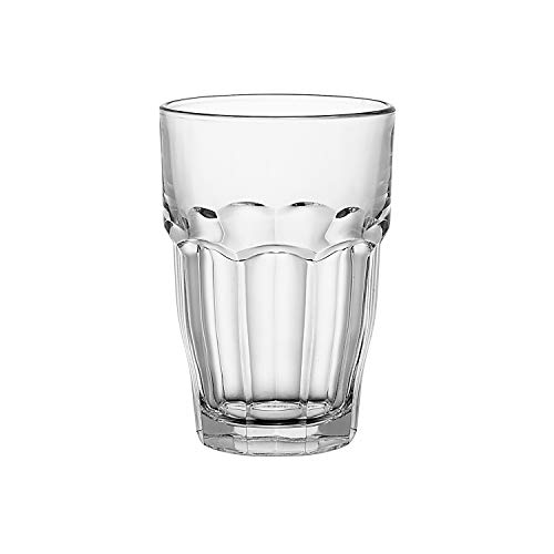 - Bormioli Rocco Rock Bar Stackable Beverage Glasses - Set Of 6 Dishwasher Safe Drinking Glasses For Soda, Juice, Milk, Coke, Beer, Spirits - 12.5oz Durable Tempered Glass Water Tumblers For Daily Use