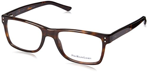 Polo PH 2057 Eyeglasses Styles Havana Frame w/Non-Rx 55 mm Diameter Lenses, - Glasses Polo Prescription