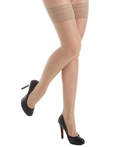 Donna Karan Lace Thigh High DKF007 Nude ()
