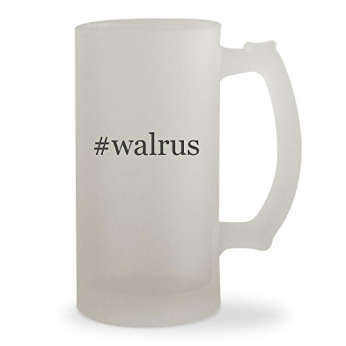 #walrus - 16oz Hashtag Sturdy Glass Frosted Beer Stein