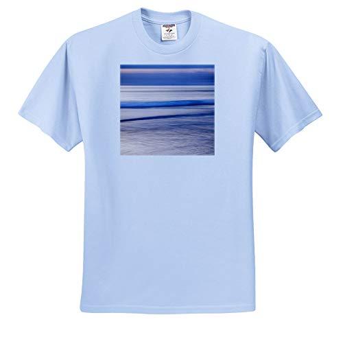3dRose Danita Delimont - Natural Patterns - USA, California, La Jolla, Dusk at La Jolla Shores - Toddler Light-Blue-T-Shirt (2T) (ts_314590_63)
