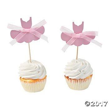 Ballerina Tutu Food Picks - 25 pc by Fun Express (Image #1)