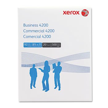 Xerox Business 4200 Copy/Print Paper, 92 Bright, 20lb, Letter, White, 500 Sheets/Ream
