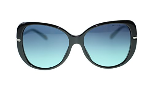 TIFFANY & CO Butterfly Women's Sunglasses TF4126B 80559S Black/Blue 57mm - Butterfly Sunglasses Tiffany