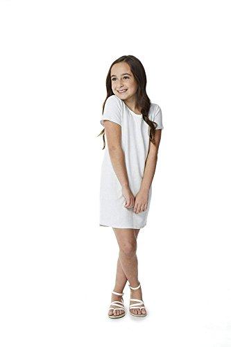 360Air Girls Faux Cashmere Short Sleeve Dress, White Confetti Print, - Print Confetti Dress
