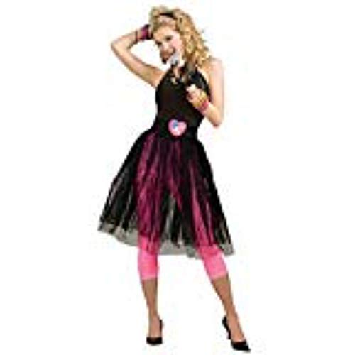 Woman's 80's Pop Star Skirt, Black, One Size Costume ()