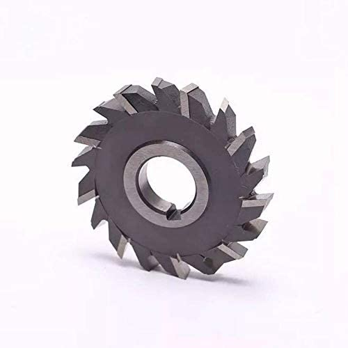 without 1pc 100mm*6 * 8 * 10 * 12 * 14 * 16 * 18 * 20 Stagger Tooth Mill Three Blade Cutter Metal Milling Cutter (Size : 100x12)