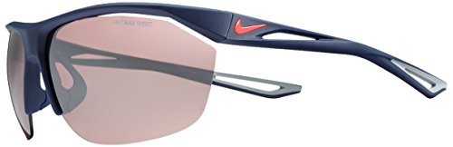 Nike EV0946-466 Tailwind E Sunglasses (Frame Speed Tint with Silver Flash Lens), Matte Midnight Navy/Lava - Nike Tailwind Sunglasses