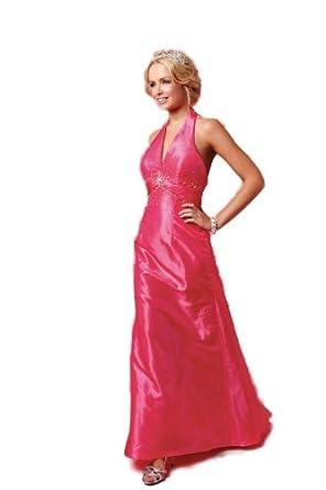 Sale Over 80% Off Amanda Wyatt DQ 2141 Neon Pink Taffeta Bridesmaid*Prom Dress