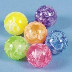 Rubber Bouncy Balls (Fun Express Mini Neon Swirl Bouncing Balls - 48 Pieces)