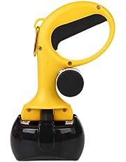 2 in 1 Design Portable Handheld Pooper Scooper with Waste Disposal Bag Dispenser Portable Hook,Dog Excrement Collector,Jaw Dog Picker Collector,Easy Clean Up Defecate,Dog Poop Waste Pick Up Rake (BLACK)