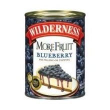 Comstock and Wilderness Blueberry More Fruit Pie Filling, 21 Ounce -- 12 per case.