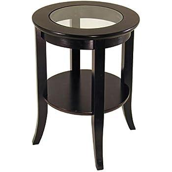 Amazon Com Winsome Genoa Occasional Table Dark Espresso