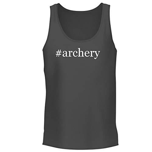 BH Cool Designs #Archery - Men's Graphic Tank Top, Grey, Medium