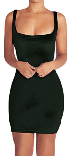 Women Velvet Dress Clubwear Jaycargogo Blackish Sexy Bodycon Sleeveless Midi Green aHq1xwd