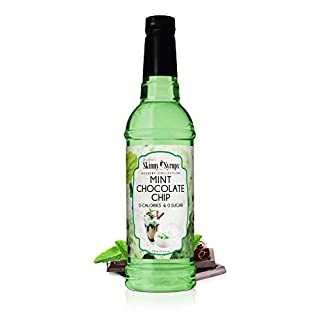 Jordan's Skinny Syrups    Sugar Free Mint Chocolate Chip Syrup   Healthy Flavors with 0 Calories, 0 Sugar, 0 Carbs   25.4 Fl Oz Bottle