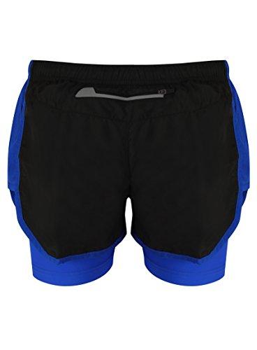 Noir Pour 2 De Respirant Matériel nbsp;pour nbsp;en 1 Ir Short Sports bleu Au Etc La Course Femme Gymnase qadwCxXn