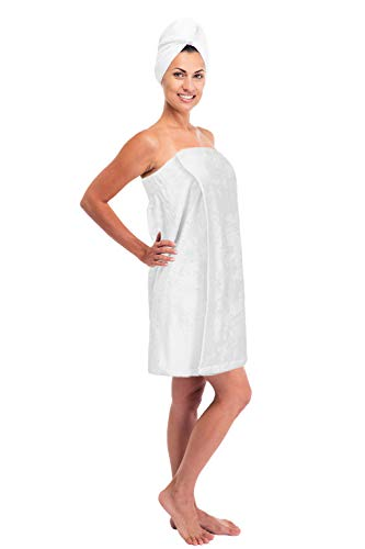 (Turkuoise Women's Turkish Cotton Terry Bath Towel Wrap Made in Turkey)