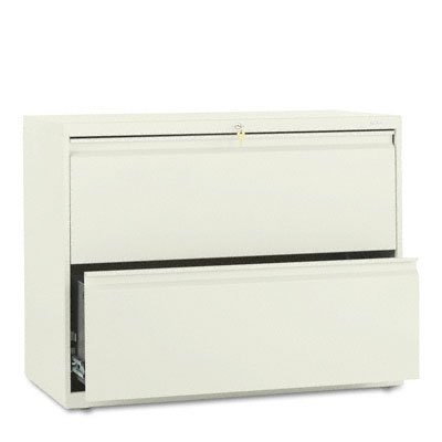 (Hon Brigade 800 Series Two-Drawer Lateral File, 36W X 19.25D X 28.38H Inches - Putty)