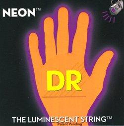DR Strings Hi-Def NEON Orange Coated Medium 7-String Electric Guitar Strings (10-56) by DR Strings