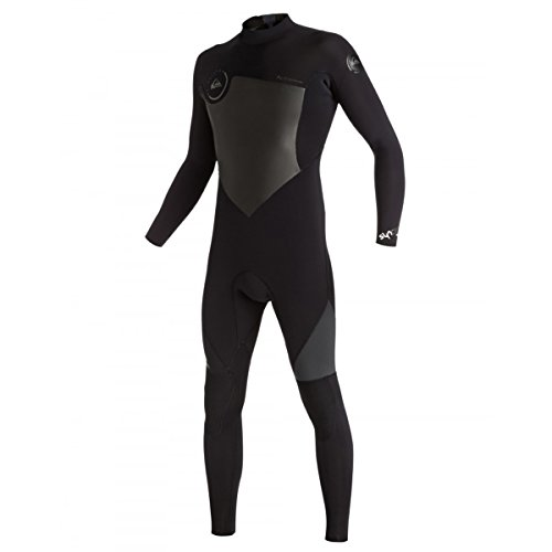 Back Zip Steamer - Quiksilver Mens Syncro 3/2mm Back Zip Full Gbs Steamer Suit, Black, Small