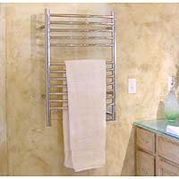 Chrome Curved Towel Warmer (Amba / Jeeves Amba Towel Warmer- E Curved, Polished, 20.5 x 31 12, Bars ECP20)