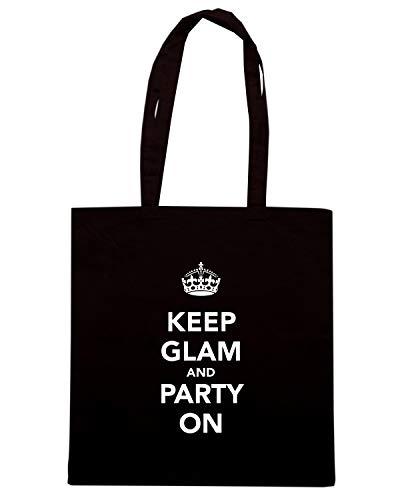 Borsa Shopper Nera TKC3440 KEEP GLAM AND PARTY ON