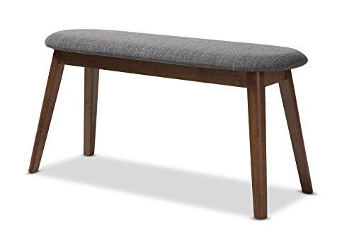 Baxton Studio 144-424-7938-AMZ Ambrelle Bench, Dark Grey/Walnut Brown by Baxton Studio