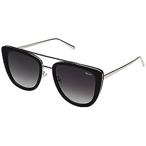 Quay Australia FRENCH KISS Women's Sunglasses Oversized All Occasions - BLK/Smoke