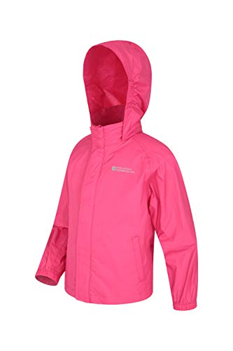 6d331fbbc Amazon.com: Mountain Warehouse Pakka Kids Rain Jacket - Waterproof,  Packable: Clothing