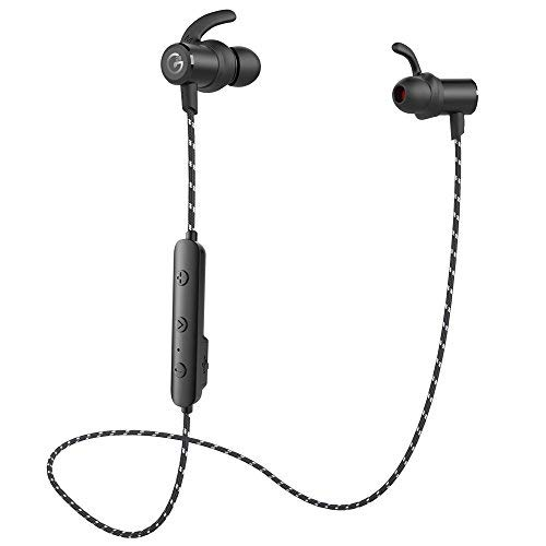 Bluetooth Headphones, OHTECH Magnetic Wireless Earbuds Sport in-Ear IPX 6 Sweatproof Earphones Super Sound Quality with Built in Mic, 10 Hours Play Time, Secure Fit Design,Bluetooth 5.0 -Black