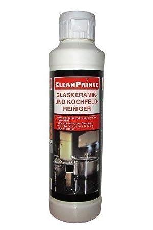 cleanprince cerámica limpiador y limpiador cocina caja de cristal 250 ml Limpiar limpieza cocinera estufa marca quemada en el horno de la zona de trabajo: ...
