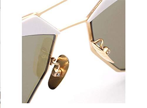 Y Estados Gafas Polígono Local De Los Oro De Gafas Sol Europa Moda Sol Gafas liwenjun Unidos Personalidad Retro 5RH4xn