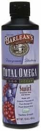 Barlean's Organic Oils Total Omega 3-6-9 Swirl, Vegan, Pomegranate Blueberry 16 fl oz (454 g)