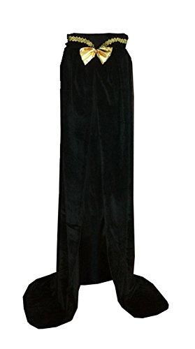 Unisex-child Halloween Costumes Wizard Cloak God of Death Cape Witch Robes Black (Medium)