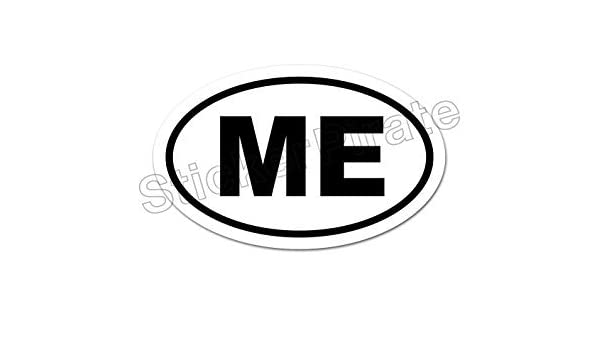 * Oval Car Magnet MEOW Magnetic Bumper Sticker