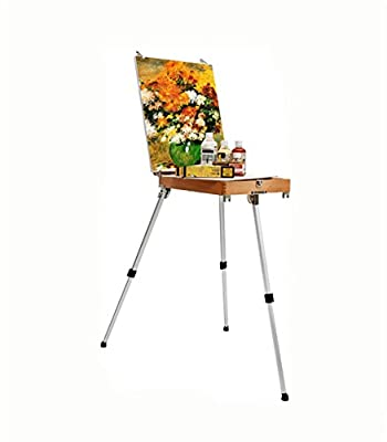 painting easel Portable Wooden Painting Box Portable Drawing Aluminum Foil Picture Box easels