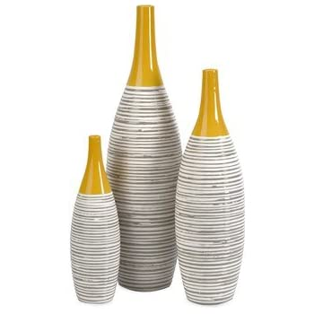 Amazon Imax 30502 Chantal Ceramic Vase Large Yellow Home