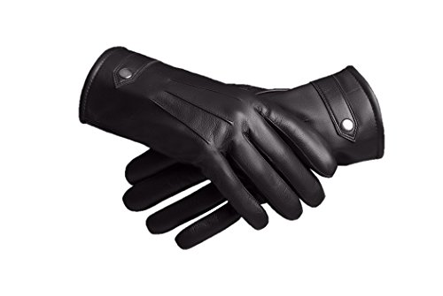 Baraca Men's Leather Gloves,Touchscreen Winter Leather Gloves (X-Large) by Baraca
