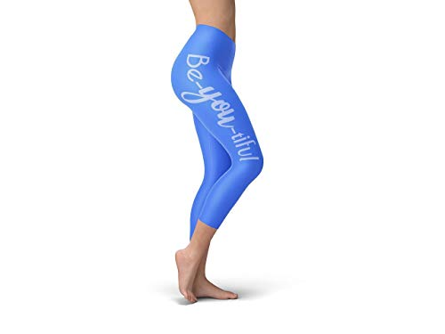 Yoga Be-you-tiful In White High Waist Compressed Capri Leggings