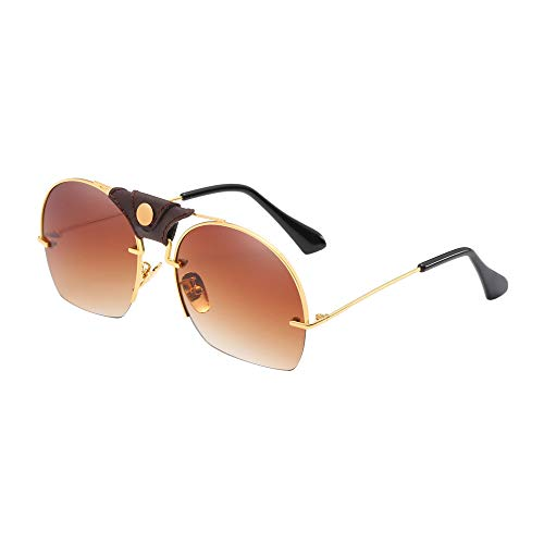 LODDD Fashion Women Sunglasses Metal Frame Shades Casual Sunglasses Integrated UV ()