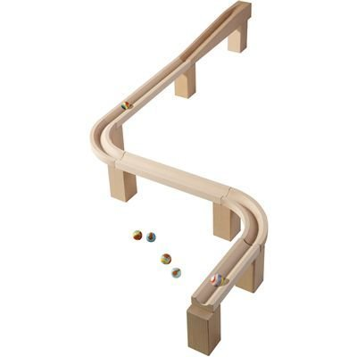 Horizontal Bend (HABA Horizontal Marble Track - S Bend or U Turn Wooden Marble Ball Track Set Accessory by HABA)