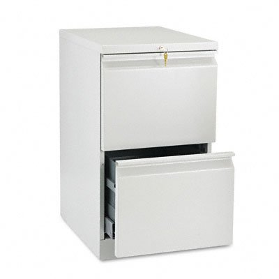 HON 33820RQ 19-7/8-Inch Efficiencies Mobile Pedestal File with 2 File Drawers, Light -