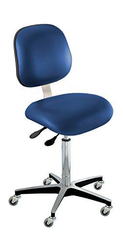 - BioFit Upholstered Chair; Ergonomic, Type C, Grade 2 Vinyl, Blue, Bench High 25-30