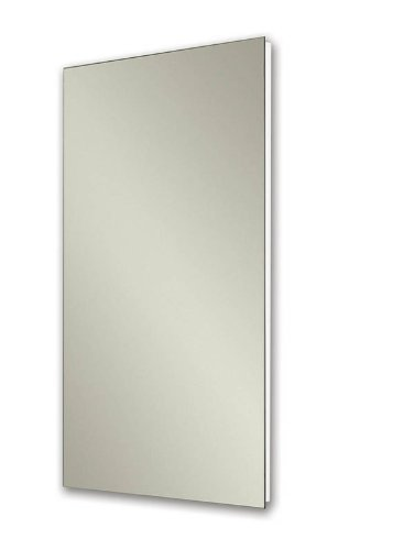 Jensen 1035P24WH Cove Frameless Medicine Cabinet with Polished Mirror, 16-Inch by 26-Inch, White by Jensen by Jensen