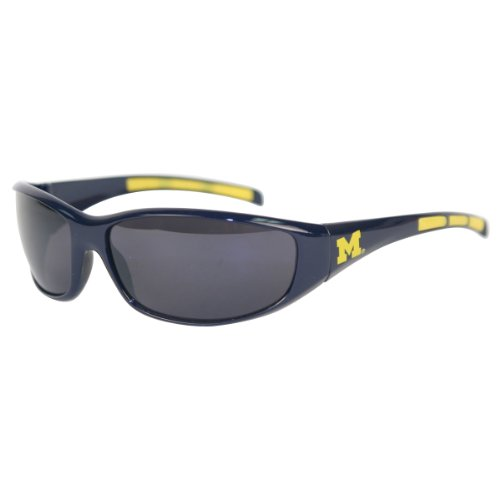 lors and Logo Sport Sunglasses - Michigan Wolverines (Michigan Wolverines Sunglasses)