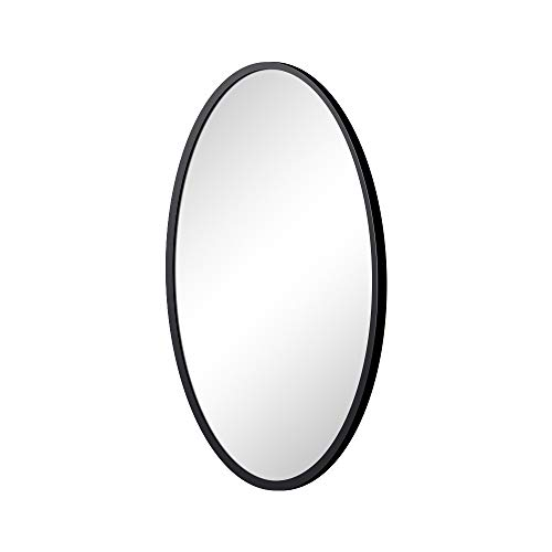 KAASUN Oval Wall Mirror with Coating Steel Frame 24 x 36 Inch - Oval Mirrors Bathroom Wall